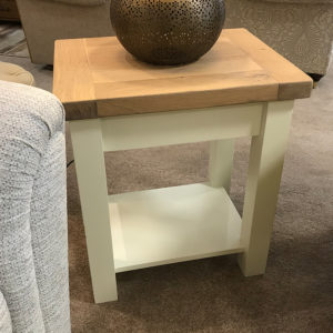 Lamp Table with Shelf