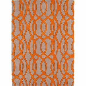 Asiatic Matrix Wire Orange Rug