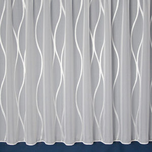Keswick Wave Stripe Net Curtain