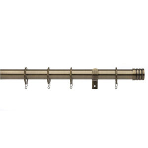 Barrel Antique Brass Curtain Pole