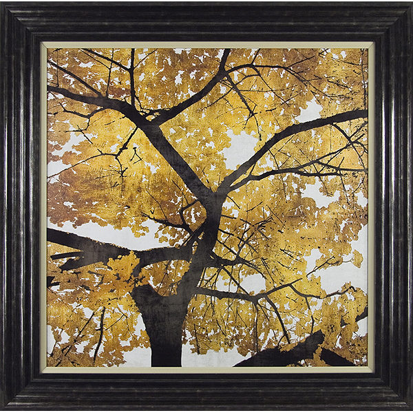 Golden Leaves Framed Picture