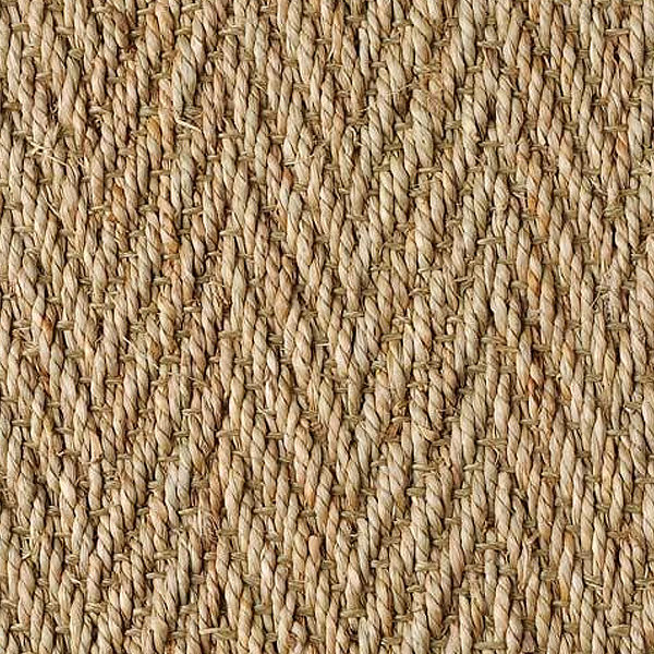 Sea grass Herringbone Detail