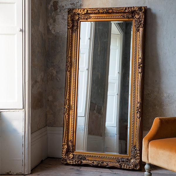 Louis Gold Leaner Mirror