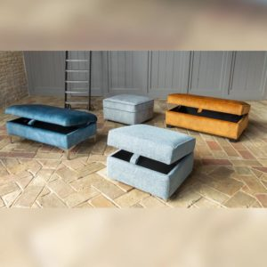 Fabric Pouffe & Footstools