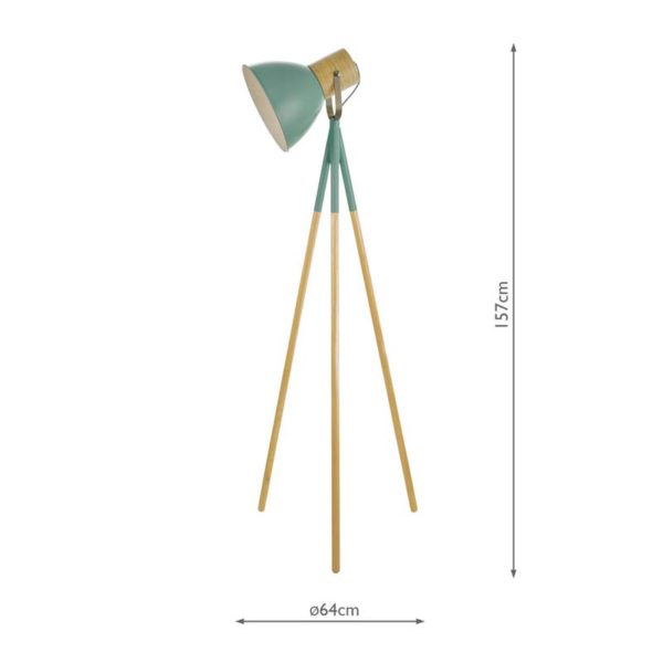 Adna Green Floor Lamp Measurements